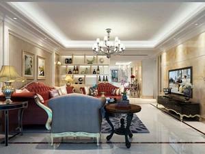 134平米欧式风格两室两厅室内装修效果图