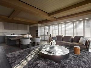 新中式风格两室两厅一卫室内装修效果图