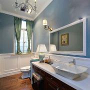 现代简约美式风格大户型卫生间浴室柜装修效果图