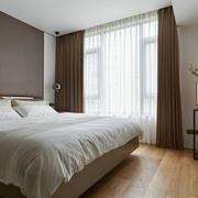 26平米现代简约风格卧室窗帘设计效果图赏析