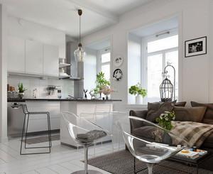 46平米现代简约风格小户型室内装修效果图赏析
