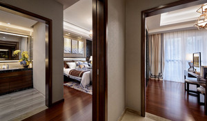 132平米新中式风格两室两厅一卫室内装修效果图