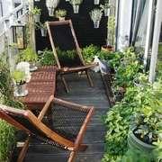 现代风格大户型阳台花园设计装修效果图