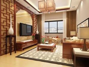 156平米中式风格大户型室内装修效果图赏析