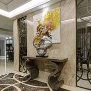中式风格大户型进门玄关柜装修效果图