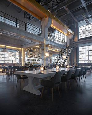 420平米现代工业风格餐厅装修效果图鉴赏