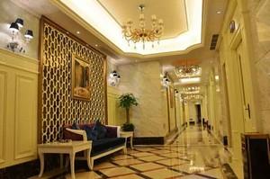 200平米欧式风格酒店过道设计装修效果图