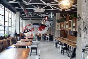 88平米后现代风格咖啡厅设计装修效果图
