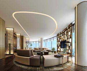 90平米简欧风格酒店总统套房装修效果图