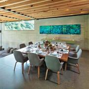 唯美现代风格三居室餐厅装修效果图赏析