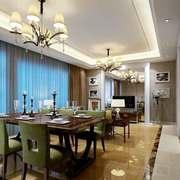 简欧风格三居室餐厅吊灯设计装修效果图