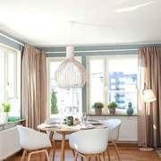 宜家风格大户型室内创意餐厅吊灯装修效果图
