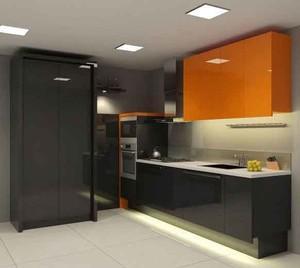现代风格温暖橙色厨房装修效果图大全赏析