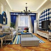 地中海风格小户型客厅装修效果图赏析
