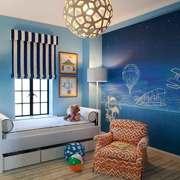 地中海风格儿童房手绘墙装修效果图赏析