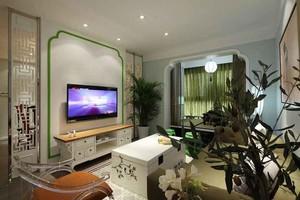 中西混搭风格两室两厅一卫室内装修效果图