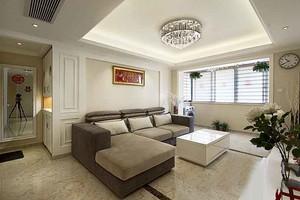 93平米现代简约风格两居室婚房设计装修效果图