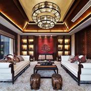 东南亚风格大户型客厅吸顶灯装修效果图赏析