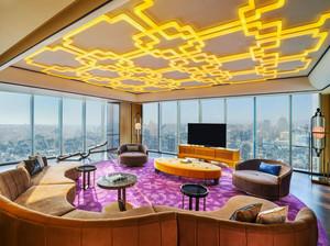 110平米现代风格客厅吊顶装修效果图赏析