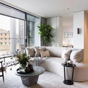 145平米现代简约风格客厅沙发效果图鉴赏