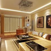 90平米现代风格客厅吸顶灯装修效果图