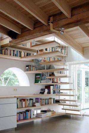 宜家风格错层实木楼梯装修效果图赏析