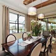 美式风格大户型室内餐厅设计装修效果图