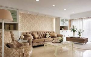 134平米欧式风格大户型室内装修效果图赏析