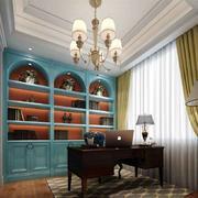 欧式风格别墅室内书房装修效果图赏析