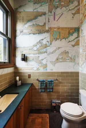 美式风格卫生间瓷砖装修效果图赏析