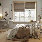23平米北欧风格卧室飘窗装修效果图鉴赏