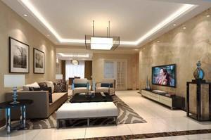 139平米现代风格精致两室一厅室内装修效果图赏析