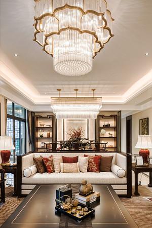 152平米现代中式风格两室两厅室内装修效果图