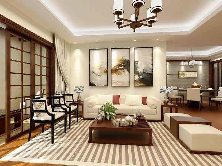 141平米新中式风格大户型室内装修效果图赏析