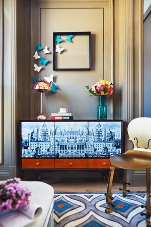 时尚混搭风格小户型客厅玄关设计效果图