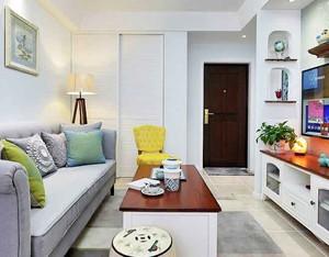 62平米宜家风格小户型室内装修效果图案例