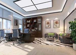 新中式风格董事长办公室装修效果图