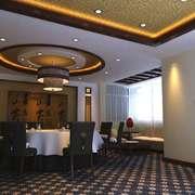 50平米中式风格酒店包厢设计装修效果图