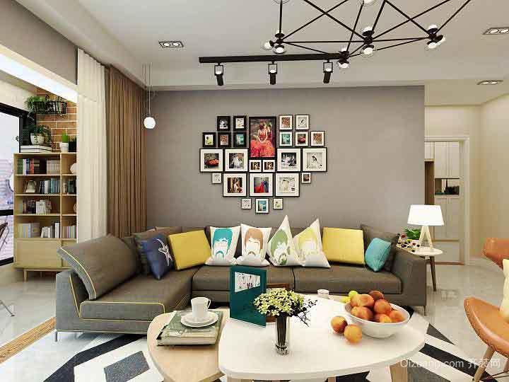 96平米北欧风格自然纯真三室两厅室内装修效果图