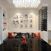 现代简约风格两居室室内餐厅背景墙装修效果图