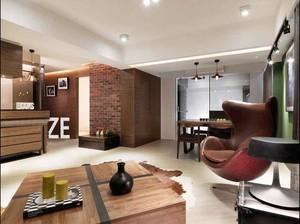 80平米现代工业风格室内装修效果图案例