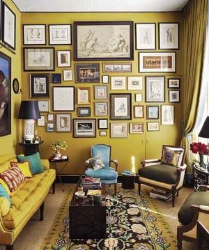时尚混搭风格活泼客厅照片墙装修效果图