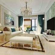 温馨精致简欧风格大户型客厅装修效果图