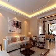 现代风格两居室客厅隔断装修效果图