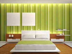 充满活力现代简约风格卧室背景墙装修效果图