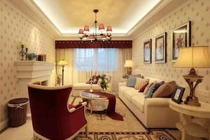 169平米美式田园风格大户型室内装修效果图案例