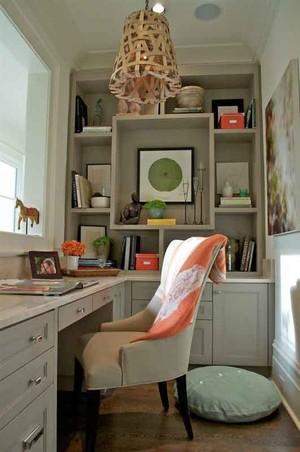 现代美式风格小书房装修效果图鉴赏