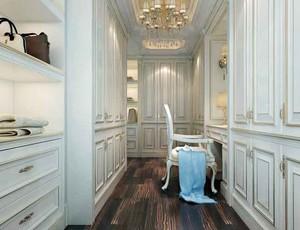 欧式风格别墅室内衣帽间设计装修效果图鉴赏