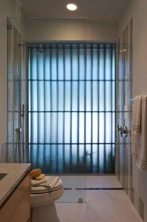 8平米现代简约风格卫生间隔断设计装修效果图