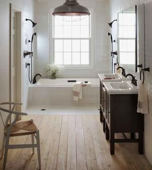 现代简约美式风格大户型室内卫生间装修效果图